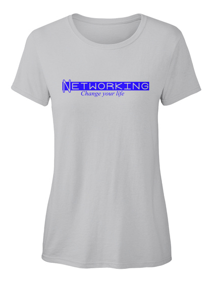 Networking Life Ellesson Sport Grey Women's T-Shirt Front