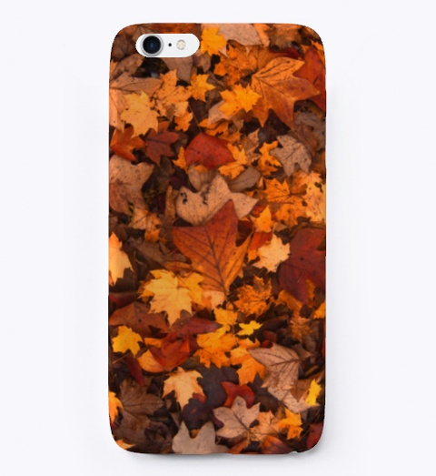 Autumn Leaves | Phone Case Black T-Shirt Front