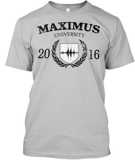 "T Shirt Standard Maximus ""University"" Sport Grey T-Shirt Front"
