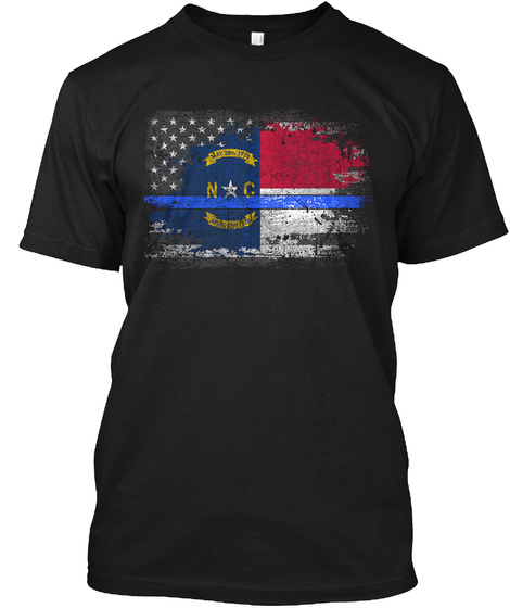 N C May 1778 Black T-Shirt Front