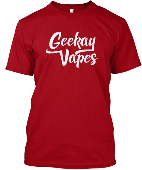 Geekay Vapes Logo Tee Deep Red T-Shirt Front