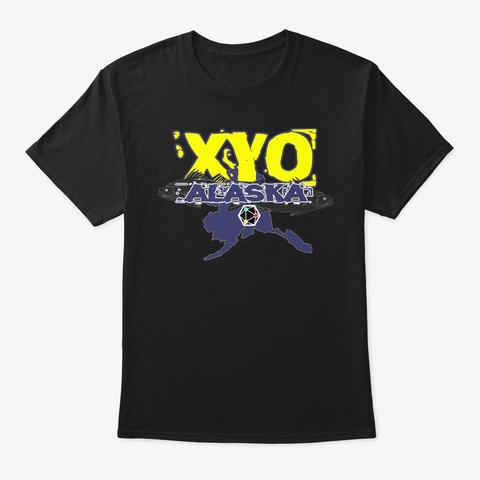 Xyo Alaska Design Black T-Shirt Front