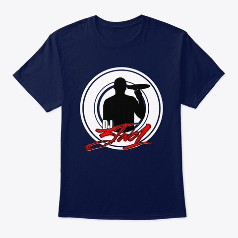 Dj3two1 Classic Tee Navy T-Shirt Front