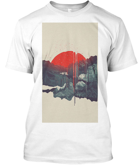 The Warriors Sunset White T-Shirt Front