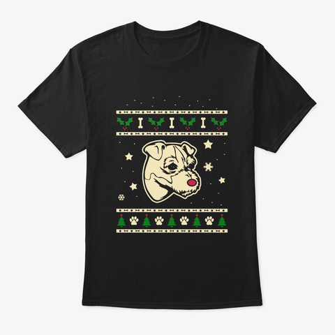 Christmas Jack Russell Terrier Gift Black T-Shirt Front