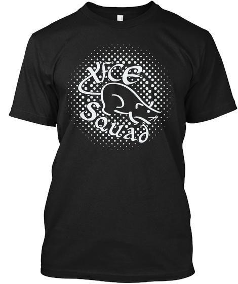 Xfce Squad (Us) Black T-Shirt Front