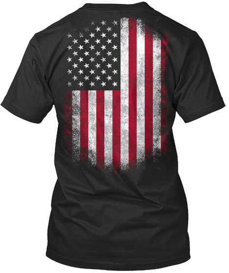 Usa Flag   For True Patriots. Black T-Shirt Back