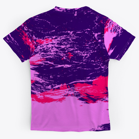 Digital Free Zone   Batik Tie Dye Art Standard T-Shirt Back