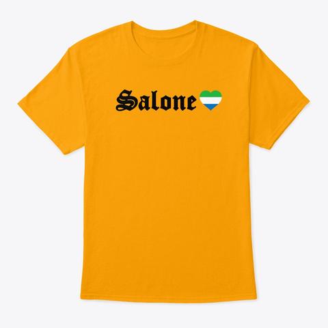 Wa Yout Arts Sierra Leone Salone Gold T-Shirt Front