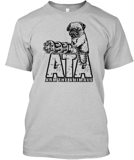 Ata Arm The Animals Light Steel T-Shirt Front