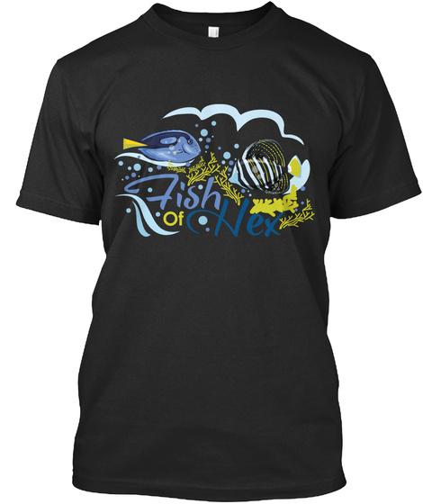 Fish  Of Nex Black T-Shirt Front