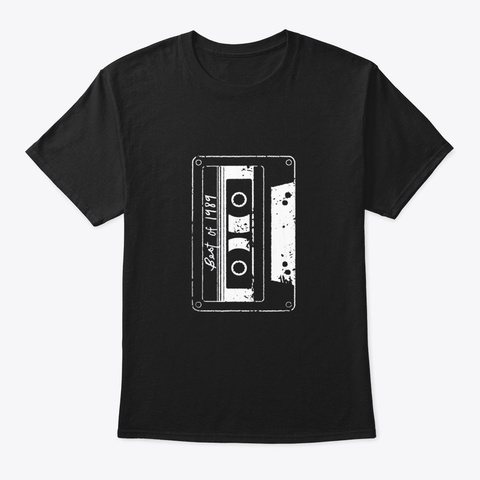 Vintage Best Of 1989 Tshirt 80s Tape Black T-Shirt Front