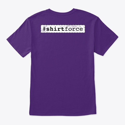 Salesforce Fridays #Why Admins Drink Purple T-Shirt Back