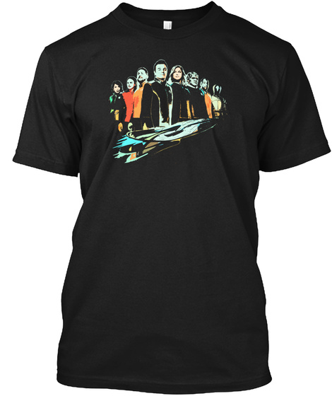 Talking The Orville Crew  Black T-Shirt Front