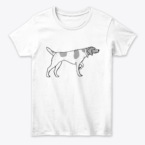 German Shorthaired Pointer White T-Shirt Front