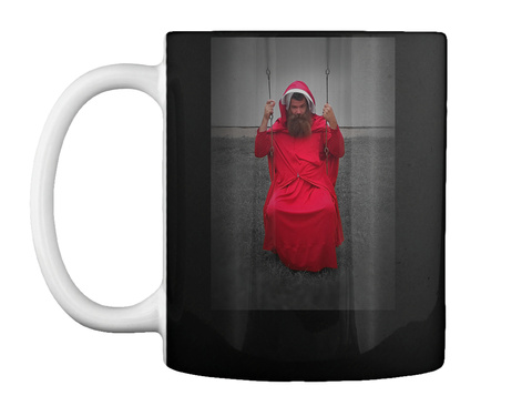The Manmaid's Tale! Black Mug Front