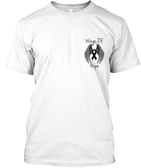 Wings Of Hope White T-Shirt Front