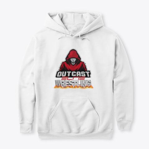 Outcast Elite Wrestling White T-Shirt Front