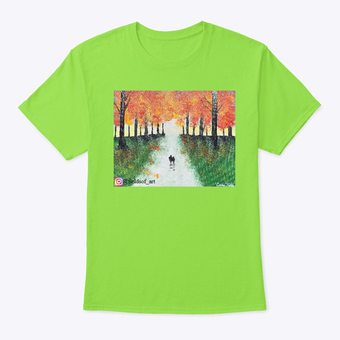 Fields Of Art Lime T-Shirt Front