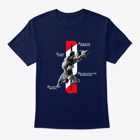 Dog   My Link To Paradise Navy T-Shirt Front