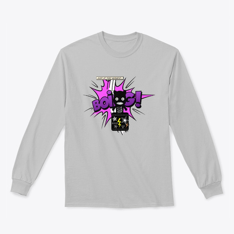 Silly Cat In The Box Sport Grey Long Sleeve T-Shirt Front