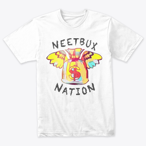 Neetbux Nation Heather White T-Shirt Front