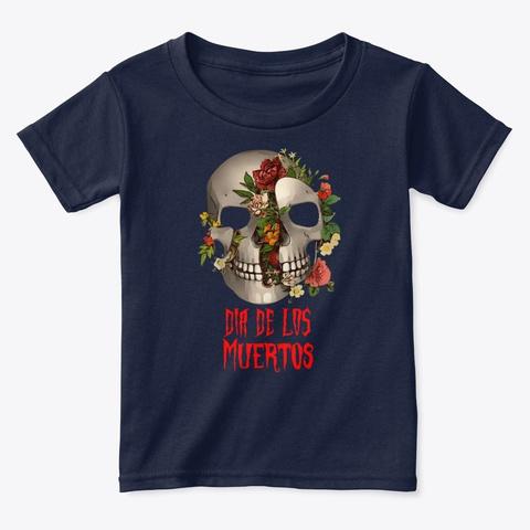 Dia De Los Muertos Sugar Skull  Navy  T-Shirt Front