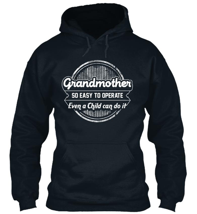 Granny même un enfant peut-il! - facile grand-mère si facile - à Standard College Sweat à capuche cba030