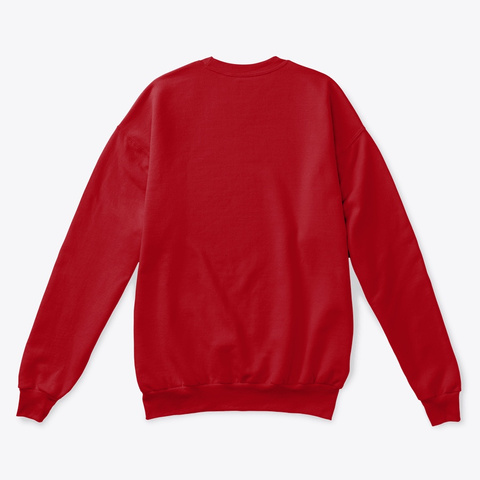 Rebo I Sweater Deep Red  T-Shirt Back