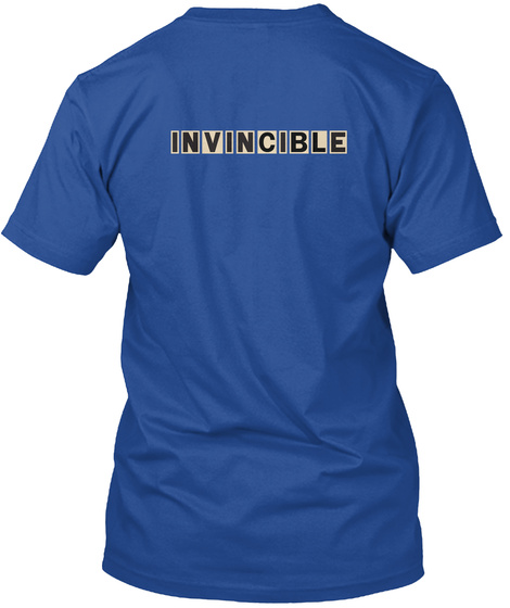 Invincible Deep Royal T-Shirt Back