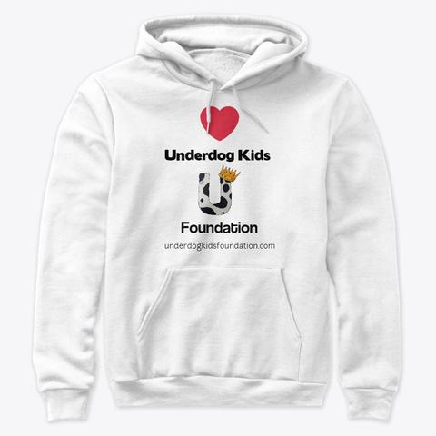 Underdog Kids Foundation White T-Shirt Front
