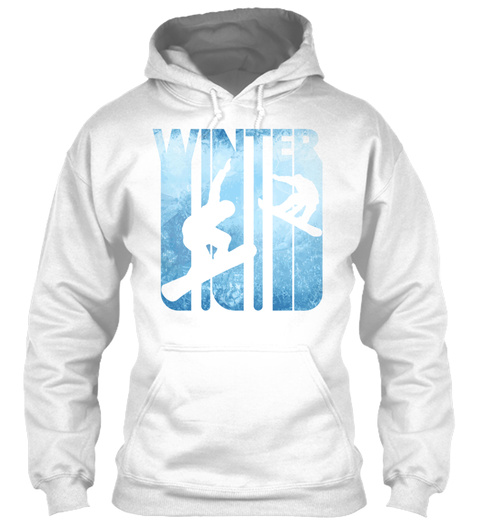 Vintage Winter Holiday Sports Snowboardi White T-Shirt Front