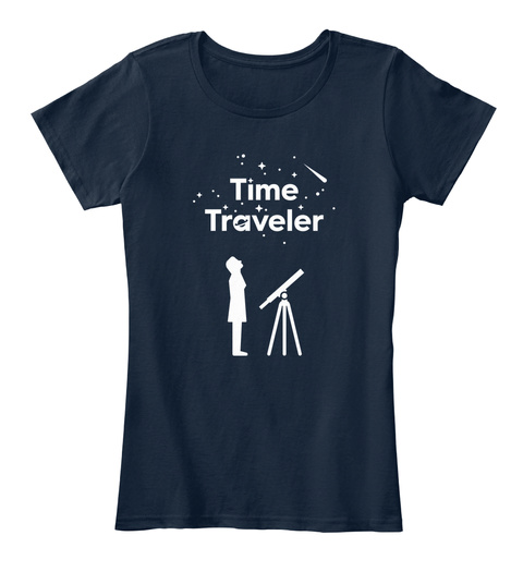 Time Traveler New Navy Women's T-Shirt Front