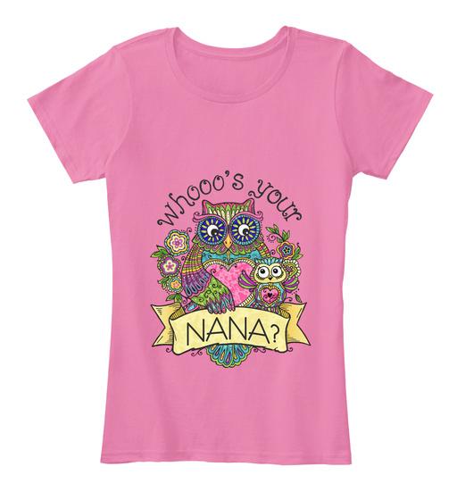 Whooo's Your Nana? Women's T-Shirt Front