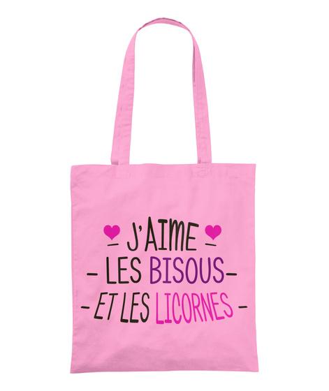 Sac    Bisous Et Licornes Classic Pink T-Shirt Front