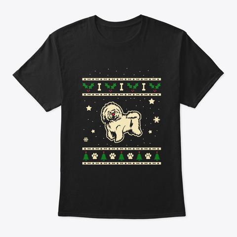 Christmas Bolognese Gift Black T-Shirt Front
