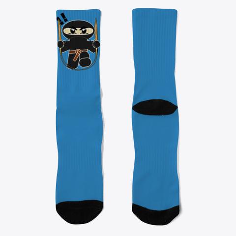 Knit Ninja Socks Denim Blue T-Shirt Front