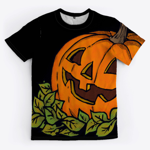 Jack Con Lantern Allover Tee Black T-Shirt Front