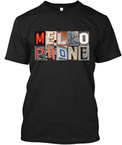 Mello Phone Black Camiseta Front