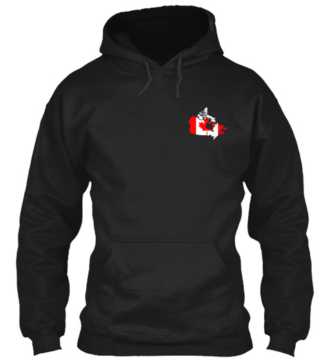 Canada Always In My Heartbeat Black T-Shirt Front