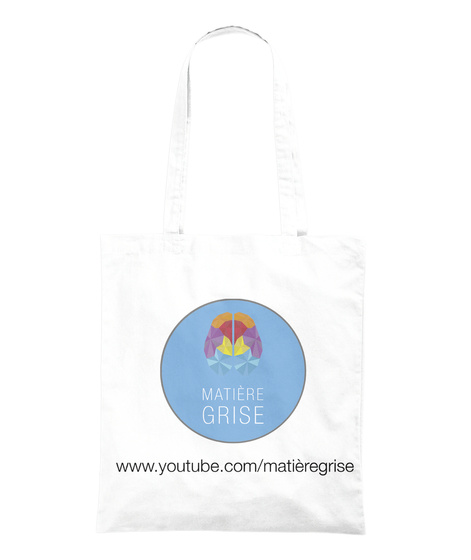 "Tote Bag ""?""   Matière Grise Merch White Tote Bag Back"
