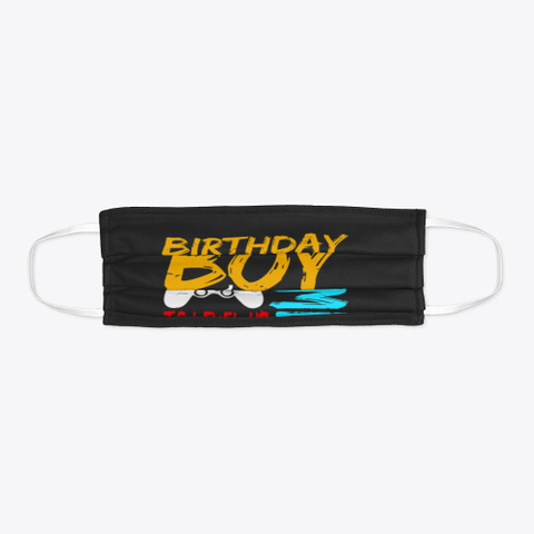 Birthday Boy Time To Level Up  Black T-Shirt Flat