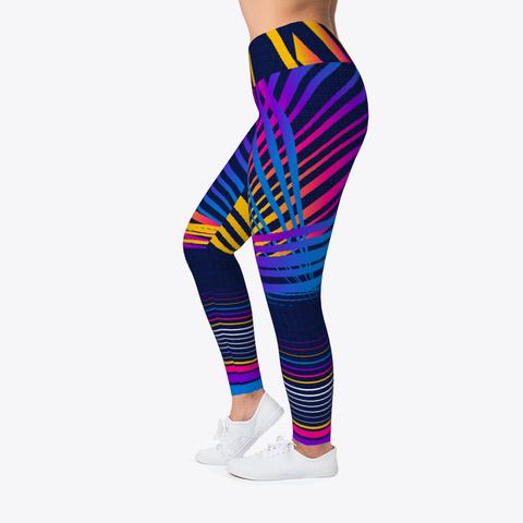 Retro Abstract Neon Lasers Leggings Standard T-Shirt Left