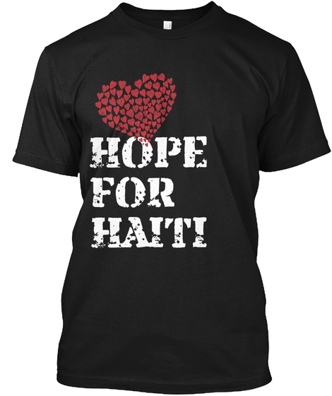 Hope For Haiti Black T-Shirt Front