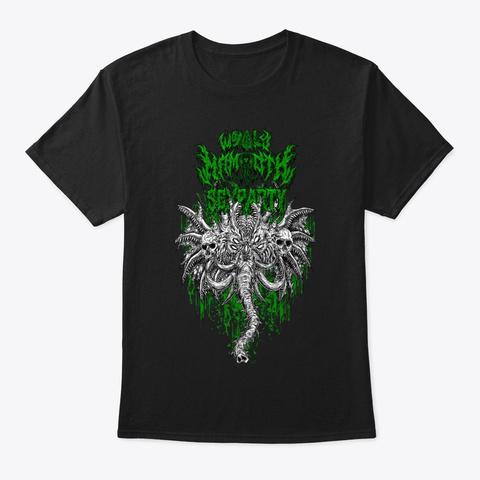 Wmsp Brutal Mammoth Green Black T-Shirt Front