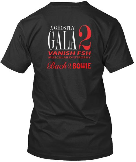 Bach 2 Bowie T Shirt, Tote And Mug Black T-Shirt Back