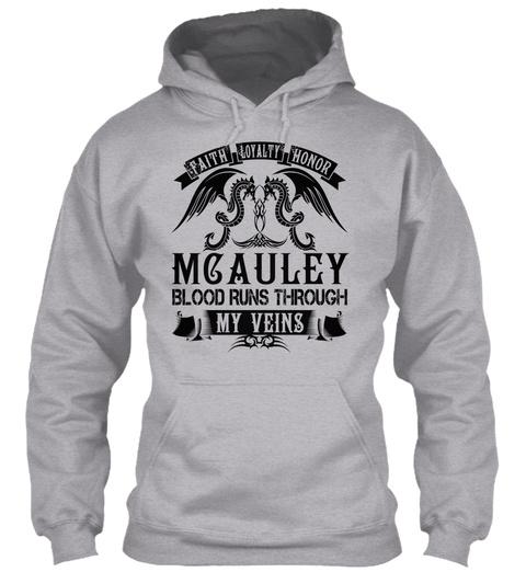 Mcauley   My Veins Name Shirts Sport Grey T-Shirt Front