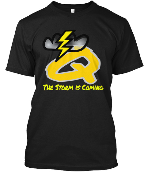 Q    The Storm Is Coming Black T-Shirt Front