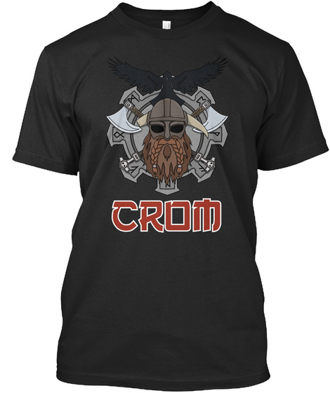 Crom Black T-Shirt Front