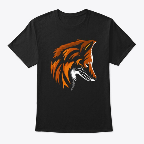 The Red Fox Black T-Shirt Front